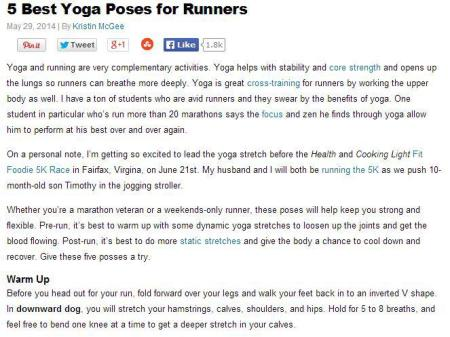 Yoga in Lafayette, Indiana Can Assist Runners in their Marathon Events